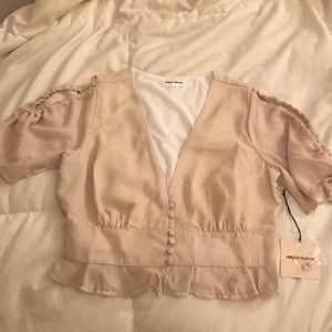 BRAND NEW nude top/blouse